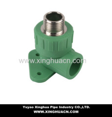 pipe fittings male elbow with wallplate