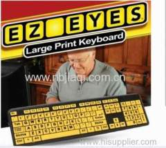 Ez eyes large print keyboard / Ez eyes keyboard