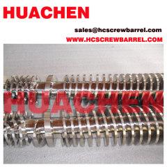 Bimetallic conical twin screws