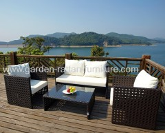 Outdoor garden rattan patio sofa small sets