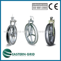 Small light single conductor pulleys