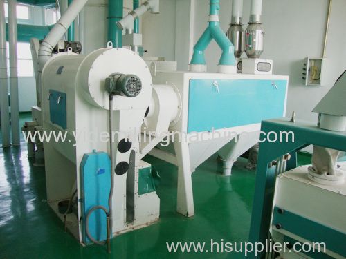 Horizontal Wheat Scourer impurities on surface of wheat seed will be cleaned