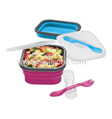 Popular silicone foldable lunch box