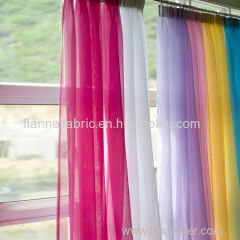 PLAIN VOILE 100% polyester voile fabric for curtain