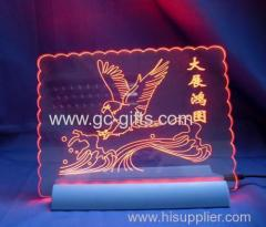 Chinese edge-lit acrylic LED signs
