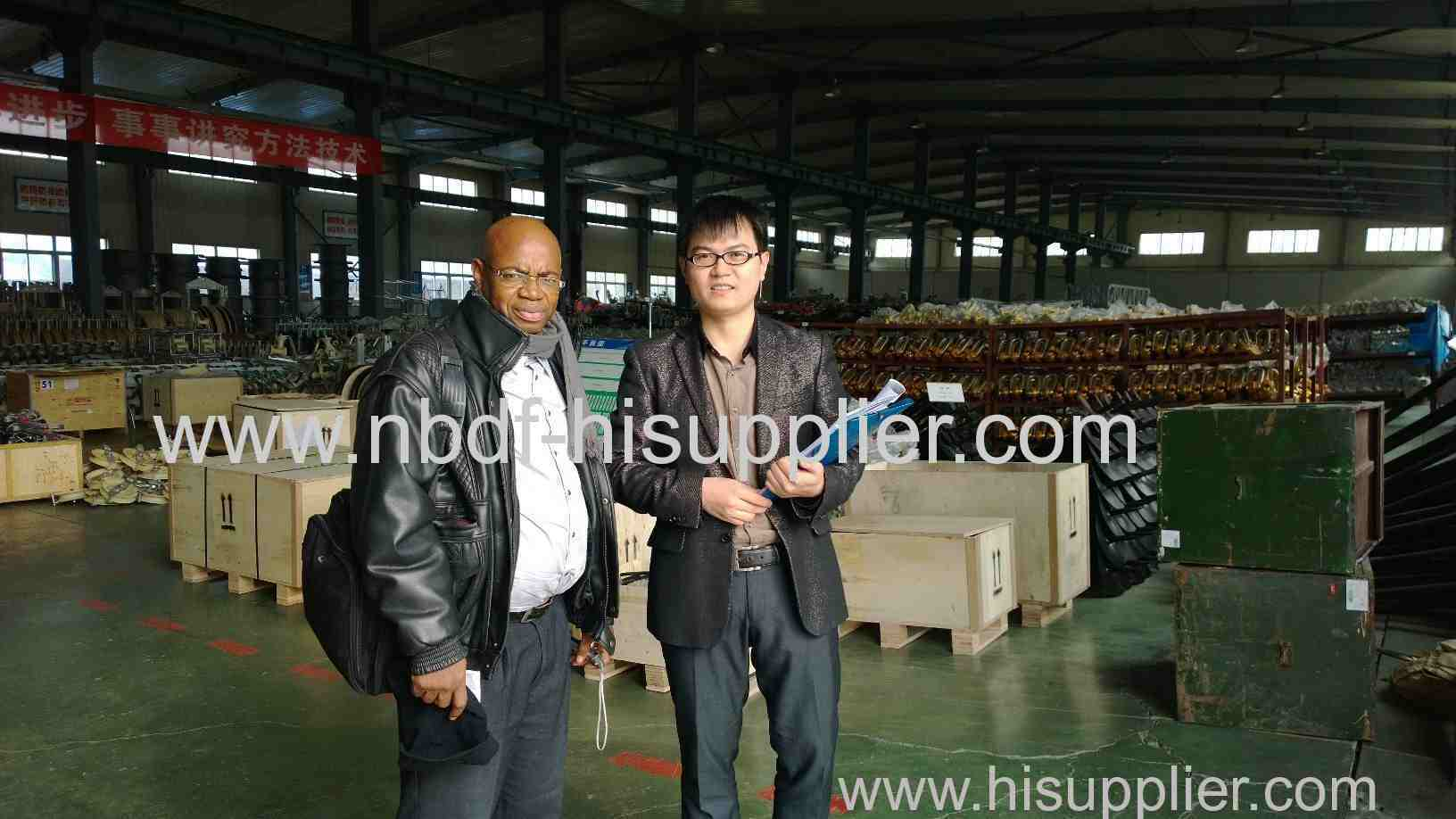 Customer from africa visited our factory and order the equipment
