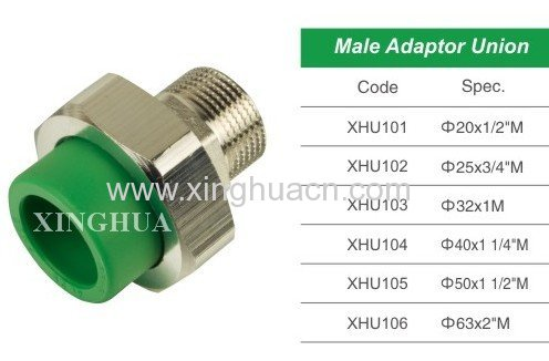 PPR Male Adaptor Union