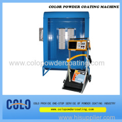 Optimized coating opening suspension Booth