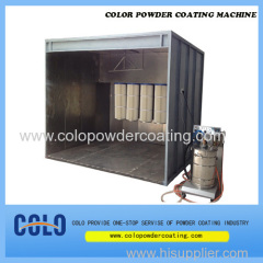 Walk-in powder coating booth