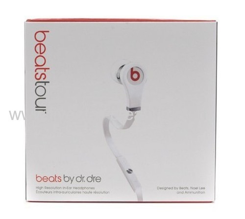 Beats by Dr.Dre Tour iPod iPhone Control In-Ear Headphones With Built-in Mic