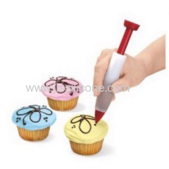 Multi-function silicone pen for cake decoration