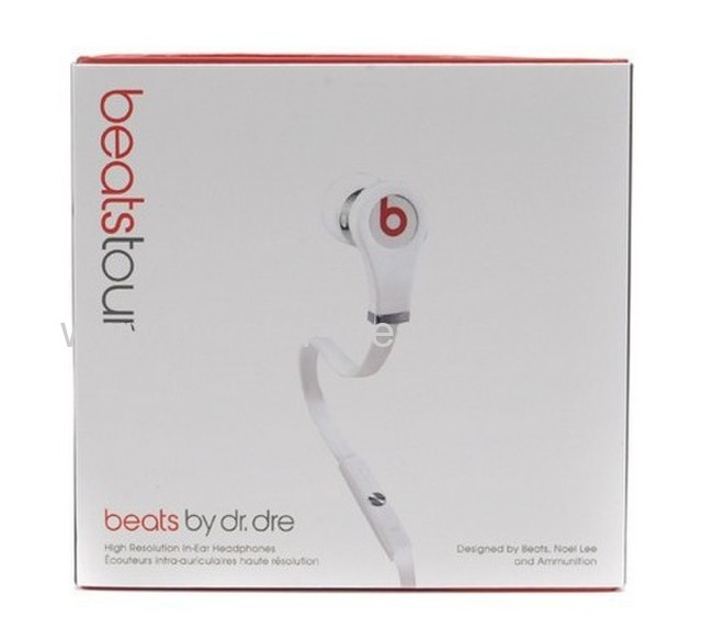 2013 New Model Beats Tour White In Ear Earbud Headphones with MIC ControlTalk