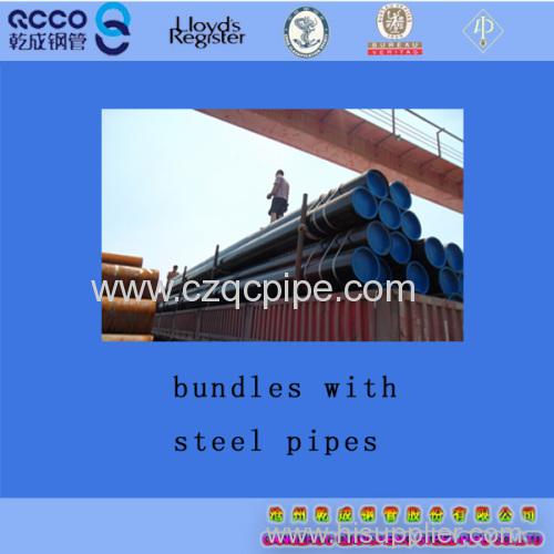 QCCO brand ASTM A53/ASTM A106 Gr.B carbon seamless pipes