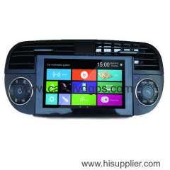 WIDEROAD fiat 500 navigation dvd radio tv bt ipod canbus blue&me car usb aux with win8 platform