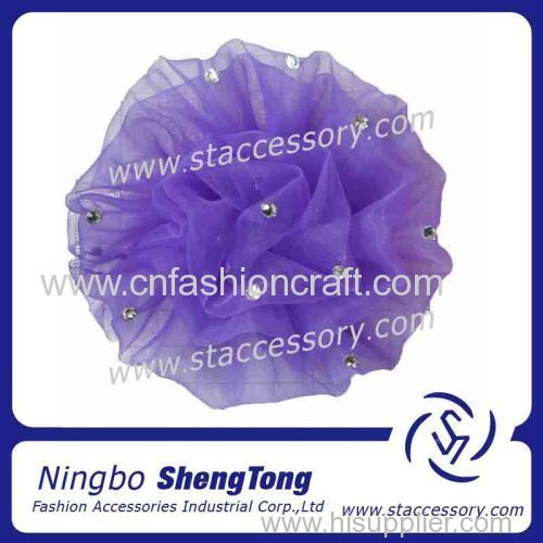 Rhinestone ribbon artificial flower for decoration