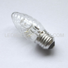 Twisted candle eco halogen bulb
