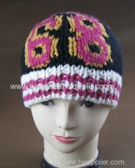 WOOLEN HAND JACQUARD BEANIE FOR FAMOUS BAND