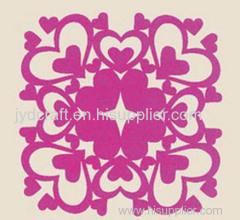 Laser Cut decorative felt table mat