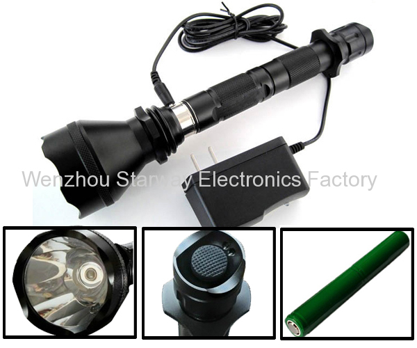 18650 Battery Super Bright Rechargeable CREE LED Flashlight with 230 Lumen