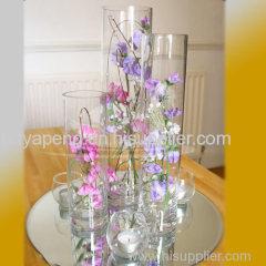 Decoration cylinder glass vase