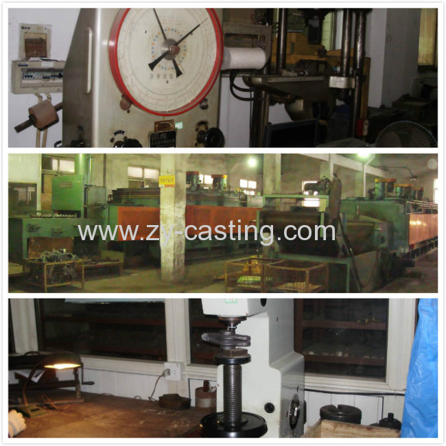 lager plate carbon steel casting engineer machinery yellow color