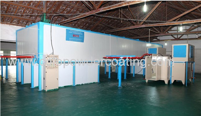 Semi-Automatic Powder Coating Line Made in Colour