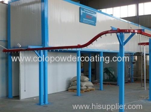 Electrostatic Powder coating line made in colour