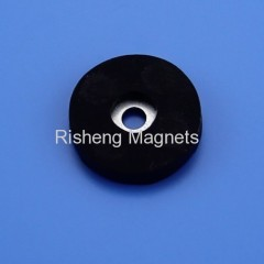 Rubber Coated Neodymium Disc Magnets Rare Earth NdFeB Supermagnete with Rubber Coating
