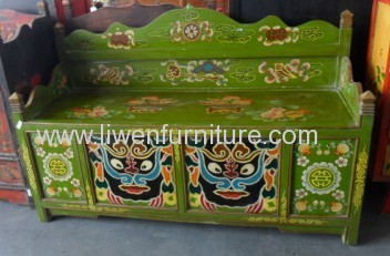 antique Tibet painted furniture