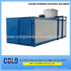 Infrared gas powder coating oven