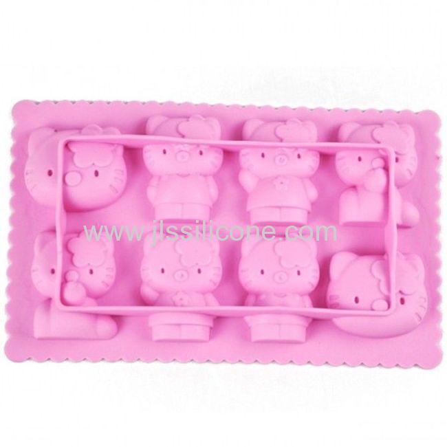 Hello Kitty Shaped Silicone Ice Cube Tray