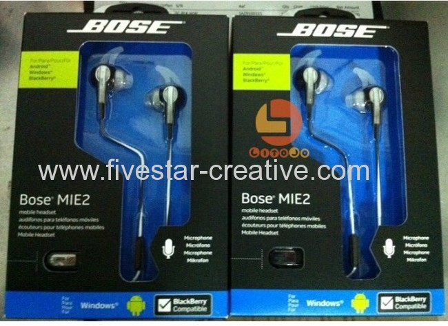 Bose MIE2 Earbud Headphones Black/White
