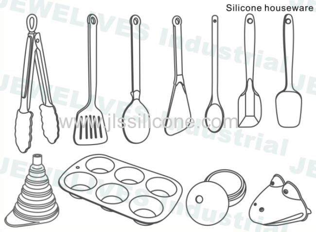 FDA and LFGB approved silicone kitchenware sets