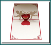 Love 3D pop up card