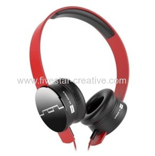 SOL Republic Tracks HD Over Ear Red Headphones with Remote and Mic
