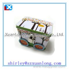 money saving round coin tin box