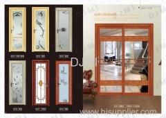 Interior Aluminum Glass Bathroom Door