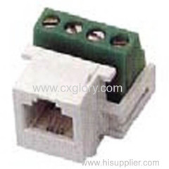 Cat.3 RJ11 Keystone Jack Screw Type Keystone Jack