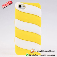Candy Cotton Soft Silicone Cases For iPhone 5/5S - Yellow