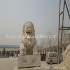 beautiful stone lion statue
