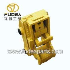 Mechanical excavator bucket quick connector