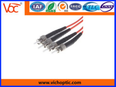 ST to ST/PC 2 core multimode fiber optic patch cord