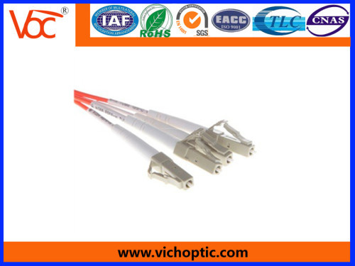 LC to LC/PC 2 core multimode fiber optic patch cord