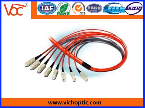 SC/PC 12 core multimode fiber fiber optic bunchy pigtail