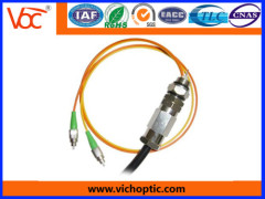 FC/APC 2 core waterproof fiber optical tail cable