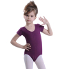 Girl's short sleeve dance leotard dance costume