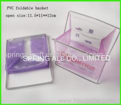 Foldable small pvc sundry box, pvc basket