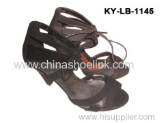 High heels lady sandal summer fashion shoes supplier