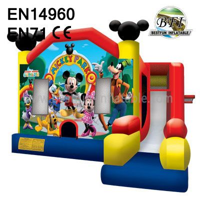 Mickey Mouse Bounce House with slide