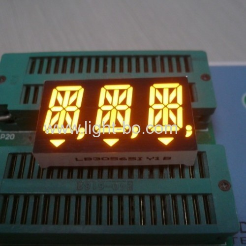 Ultra Blue Custom Design 0.544-digit 14-segment alphanumeric LED Displays with package dimensions 50.4 x21.15 x 15 mm